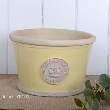 Kew Low Planter Pot Citron Yellow - Royal Botanic Gardens Plant Pot - Medium