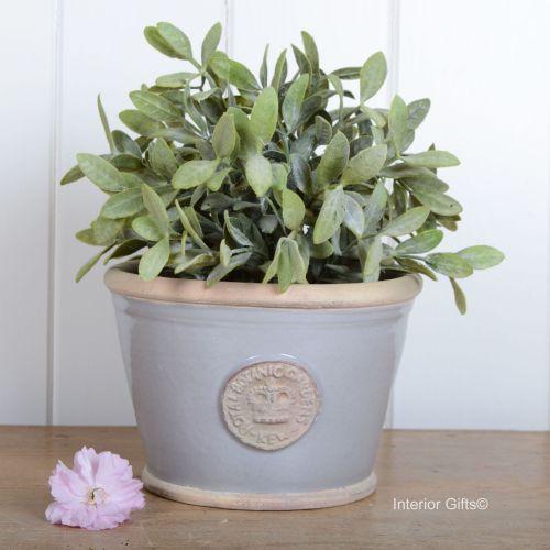Kew Low Planter Pot Light Grey - Royal Botanic Gardens Plant Pot - Small