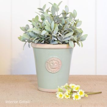 Kew Long Tom Pot in Chartwell Green - Royal Botanic Gardens Plant Pot - Small