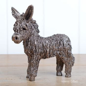 BABY DONKEY Standing Frith Bronze Sculpture by Veronica Ballan