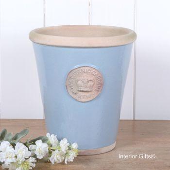 Kew Long Tom Pot in Scandinavia Blue - Royal Botanic Gardens Plant Pot - Large