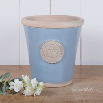 Kew Long Tom Pot in Scandinavia Blue - Royal Botanic Gardens Plant Pot - Medium