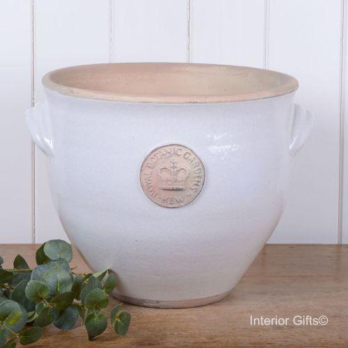 Kew Provencal Pot with Handles Bone White - Royal Botanic Gardens Plant Pot