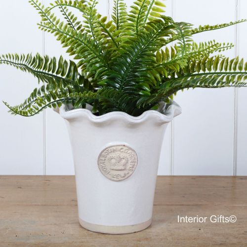 Kew Piecrust Pot in Bone - Royal Botanic Gardens Plant Pot
