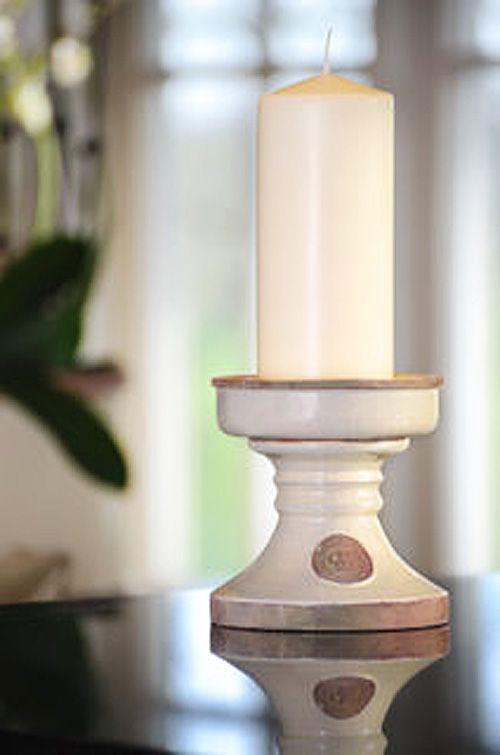 KEW Royal Botanic Gardens Candle Holder in Bone - Small