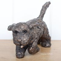 WINNIE COCKAPOO Running Frith Bronze Sculpture by Adrian Tinsley