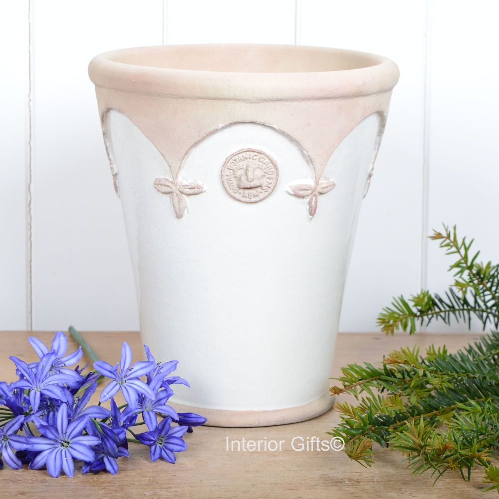 Kew Cambridge Long Tom Pot in Ivory Cream - Royal Botanic Gardens Plant Pot