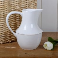 China Jug in Bone White - Drinks or Flower Vase 20 cm H