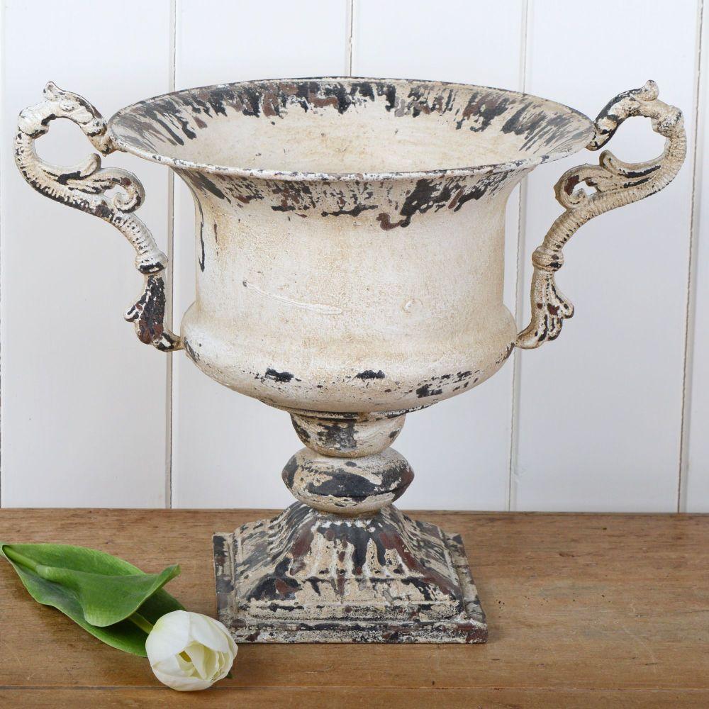 Distressed Vintage Urn with Handles