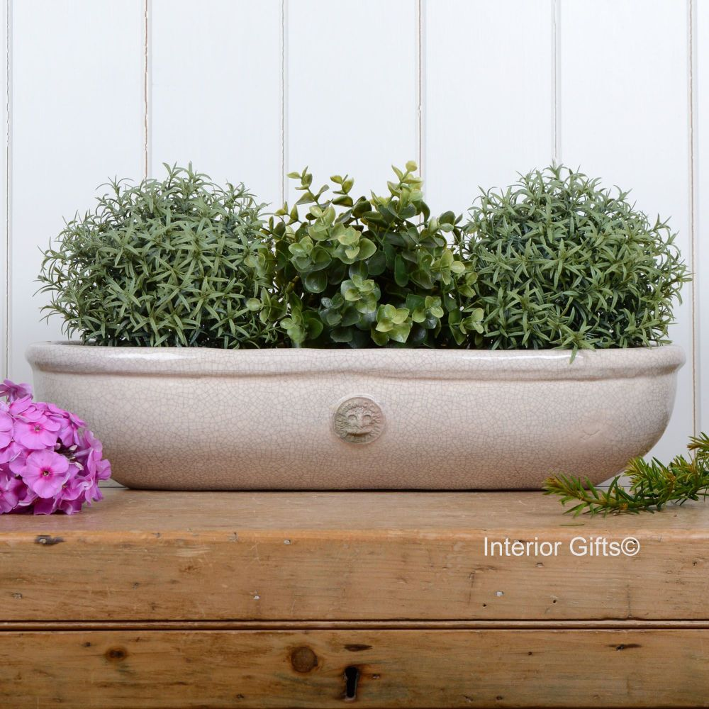 Kew Oval Windowsill Pot - Royal Botanic Gardens Plant Pot