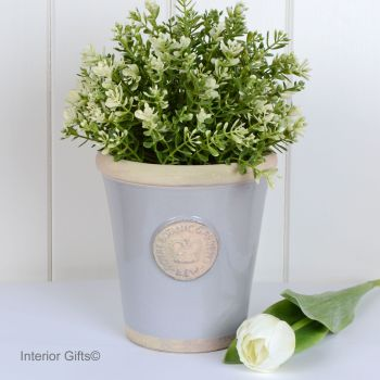 Kew Long Tom Pot in Light Grey - Royal Botanic Gardens Plant Pot - Small