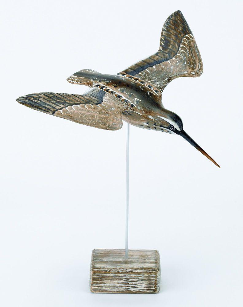 Archipelago Snipe Flying Bird Wood Carving