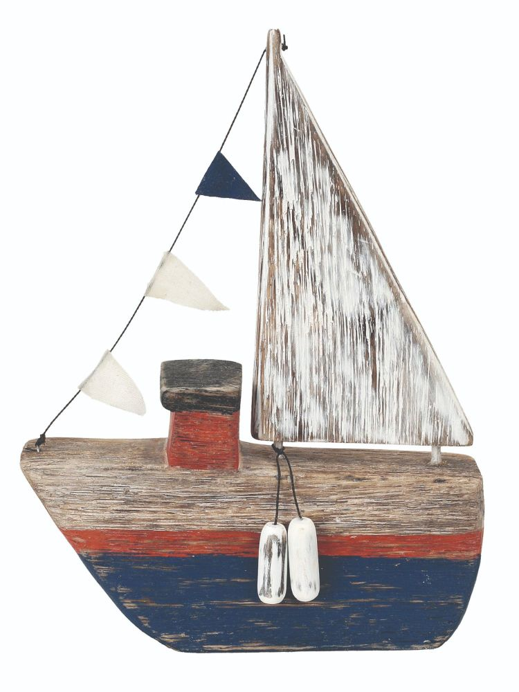 Archipelago Puffer Steam Boat Wood Carving
