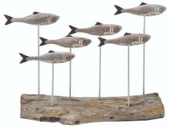 Archipelago Herring Shoal Fish Wood Carving