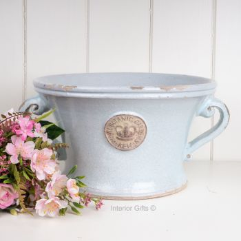 Kew Wide Distressed Jug Duck Egg Blue - Royal Botanic Gardens Plant Pot