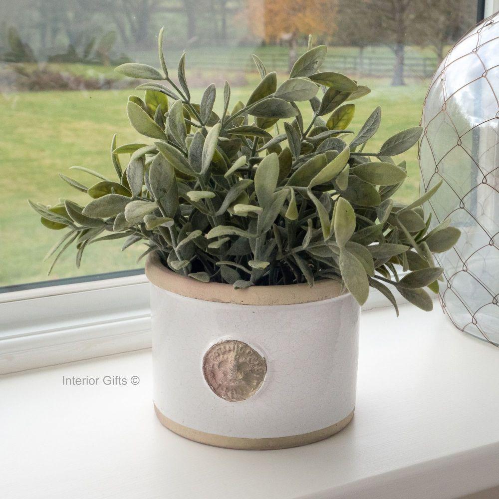 Kew Straight Edge Pot Bone - Royal Botanic Gardens Plant Pot - Medium