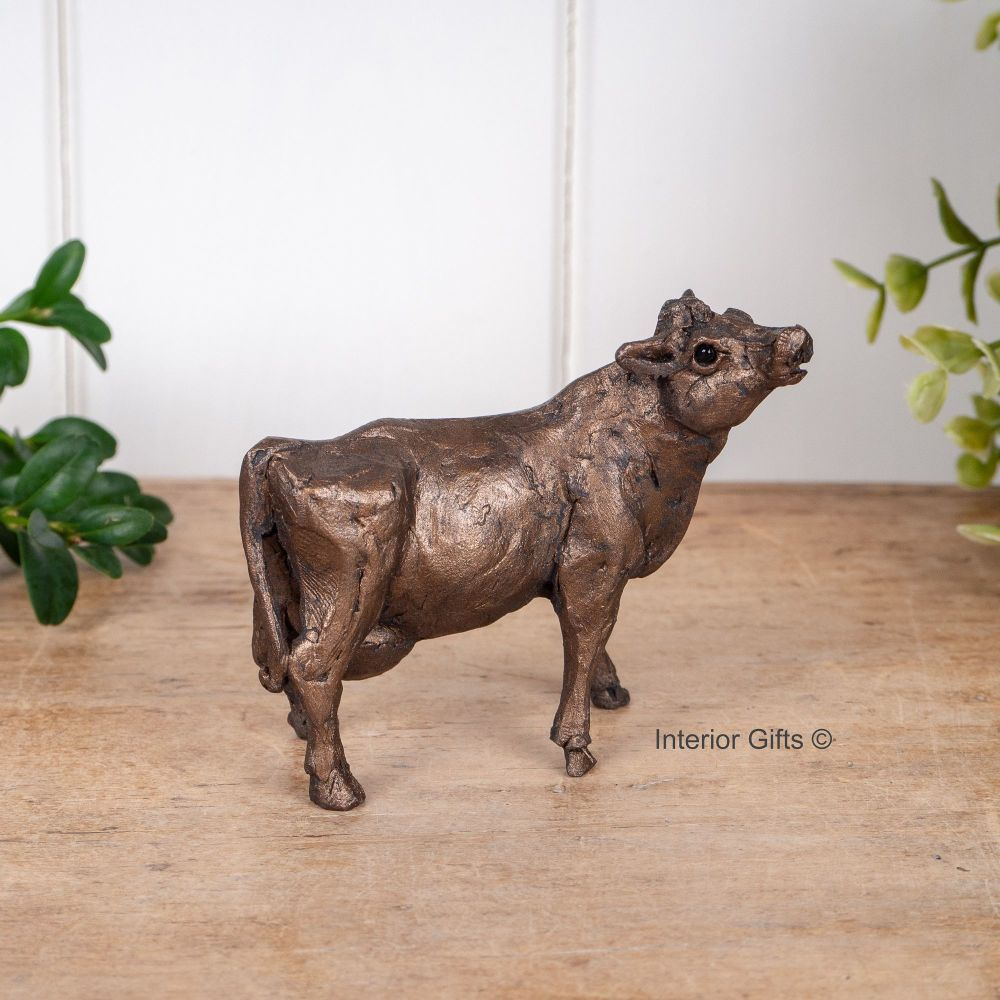 Buttercup Cow Standing Frith Bronze Sculpture Miniature *NEW* by Thomas Mea
