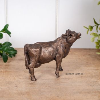 Buttercup Cow Standing Frith Bronze Sculpture Miniature *NEW* by Thomas Meadows