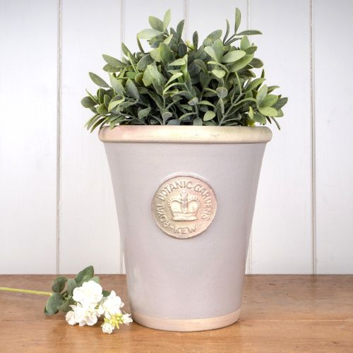 Kew Long Tom Pot in Almond - Royal Botanic Gardens Plant Pot - Large