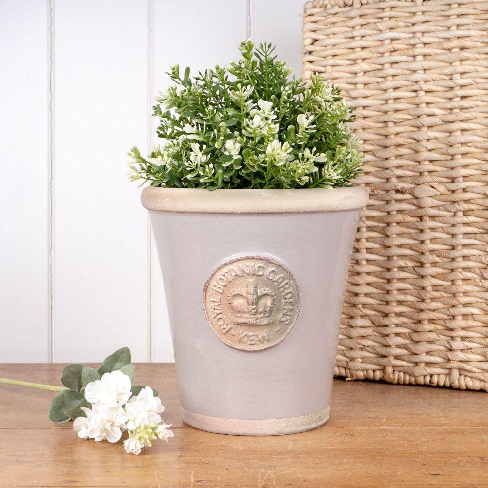 Kew Long Tom Pot in Almond - Royal Botanic Gardens Plant Pot - Medium