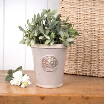 Kew Long Tom Pot in Almond - Royal Botanic Gardens Plant Pot - Small