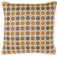 BRONTE by Moon Cushion - Gold Milan Check Shetland Wool - 17
