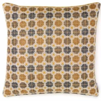BRONTE by Moon Cushion - Gold Milan Check Shetland Wool
