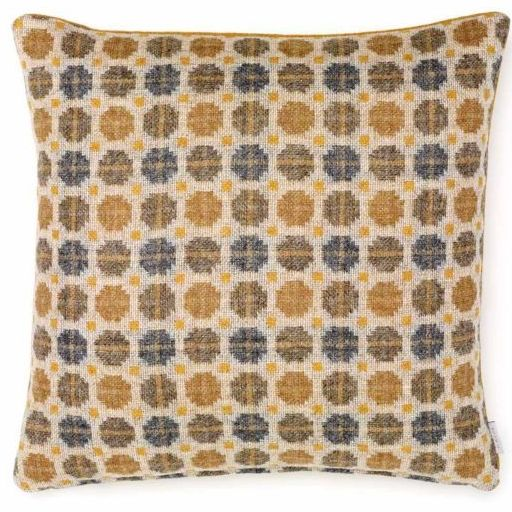 BRONTE by Moon Cushion - Gold Milan Check Shetland Wool