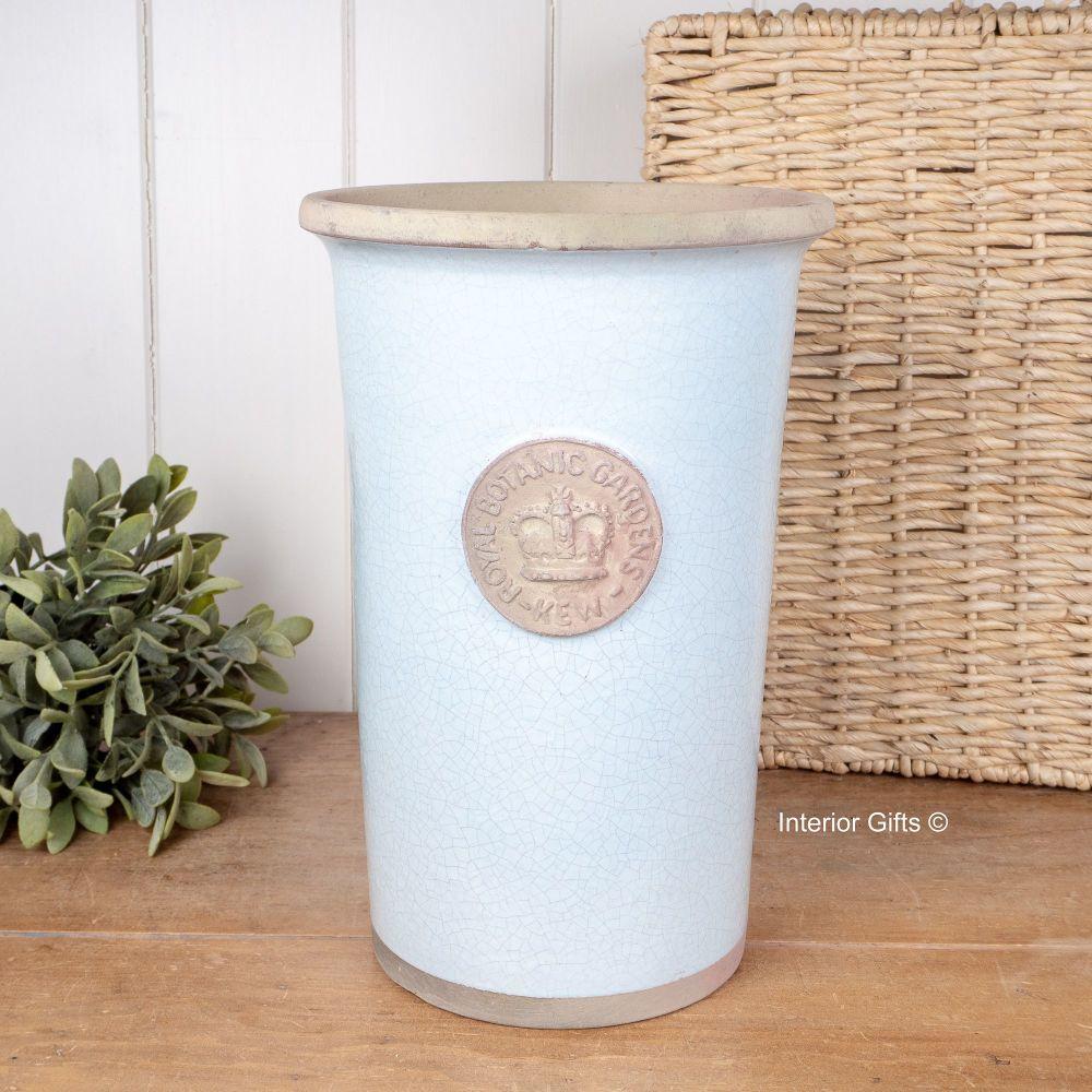 Kew Gardens Cylinder Vase in Duck Egg Blue Medium, Royal Botanic ...
