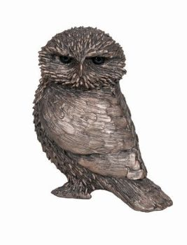 Ollie Little Owl Frith Bronze Sculpture by Thomas Meadows