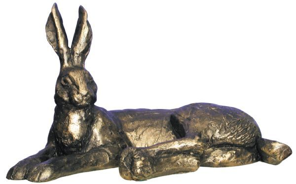 Hermione Hare Lying Frith Bronze Sculpture by Paul Jenkins