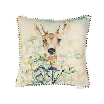 Voyage Fawn Square Country Mini Arthouse Cushion Small 30 x 30 cm
