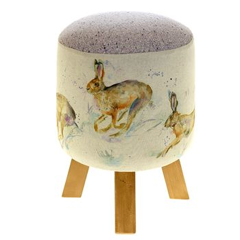 Voyage Maison Monty Stool - Hurtling Hares Footstool