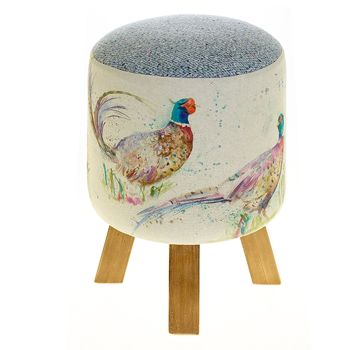 Voyage Maison Monty Stool - Dashing Pheasants Footstool
