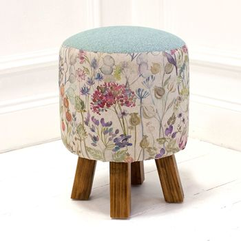 Voyage Maison Monty Stool - Hedgerow Linen Footstool
