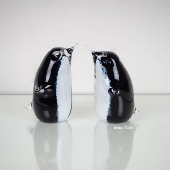 Glass Penguin Sculpture / Paperweight - Handmade