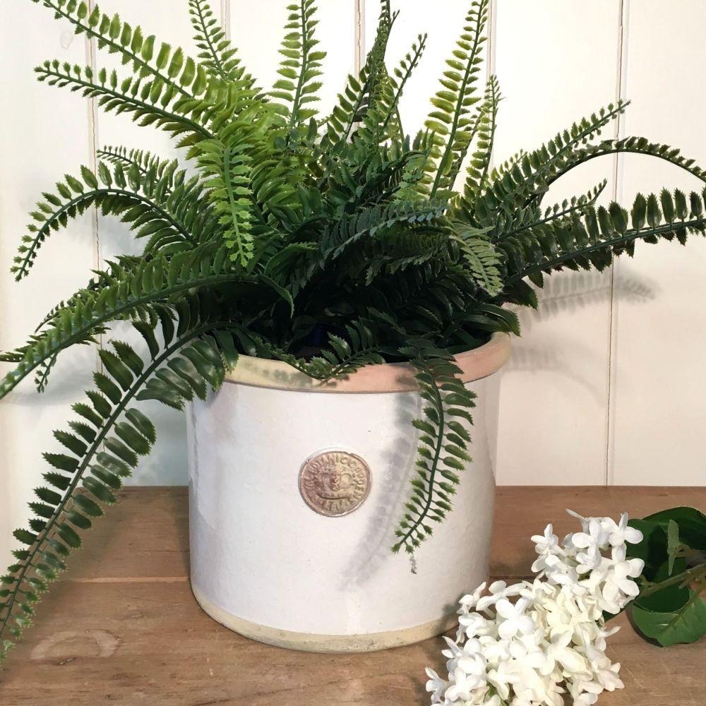 Kew Straight Edge Pot Bone - Royal Botanic Gardens Plant Pot - Large