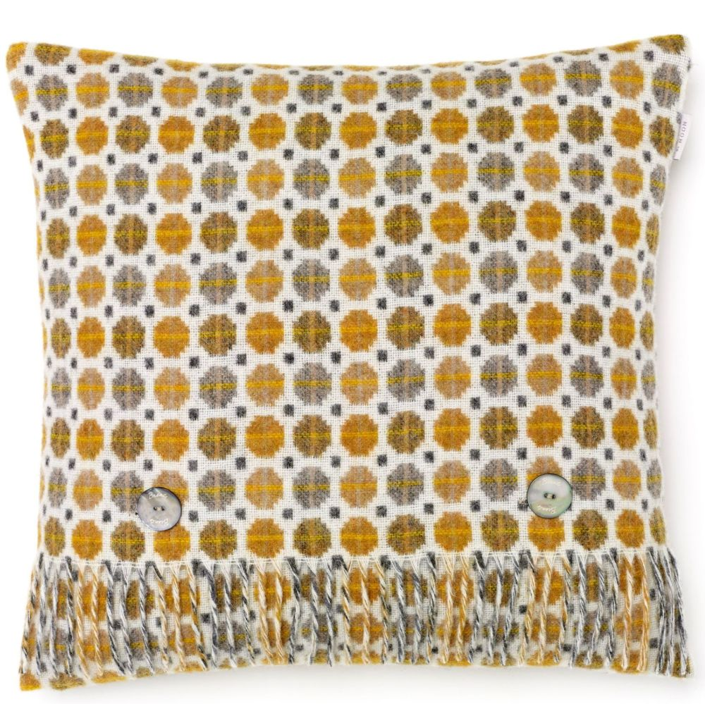 BRONTE by Moon Cushion - Gold Milan Check Merino Lambswool