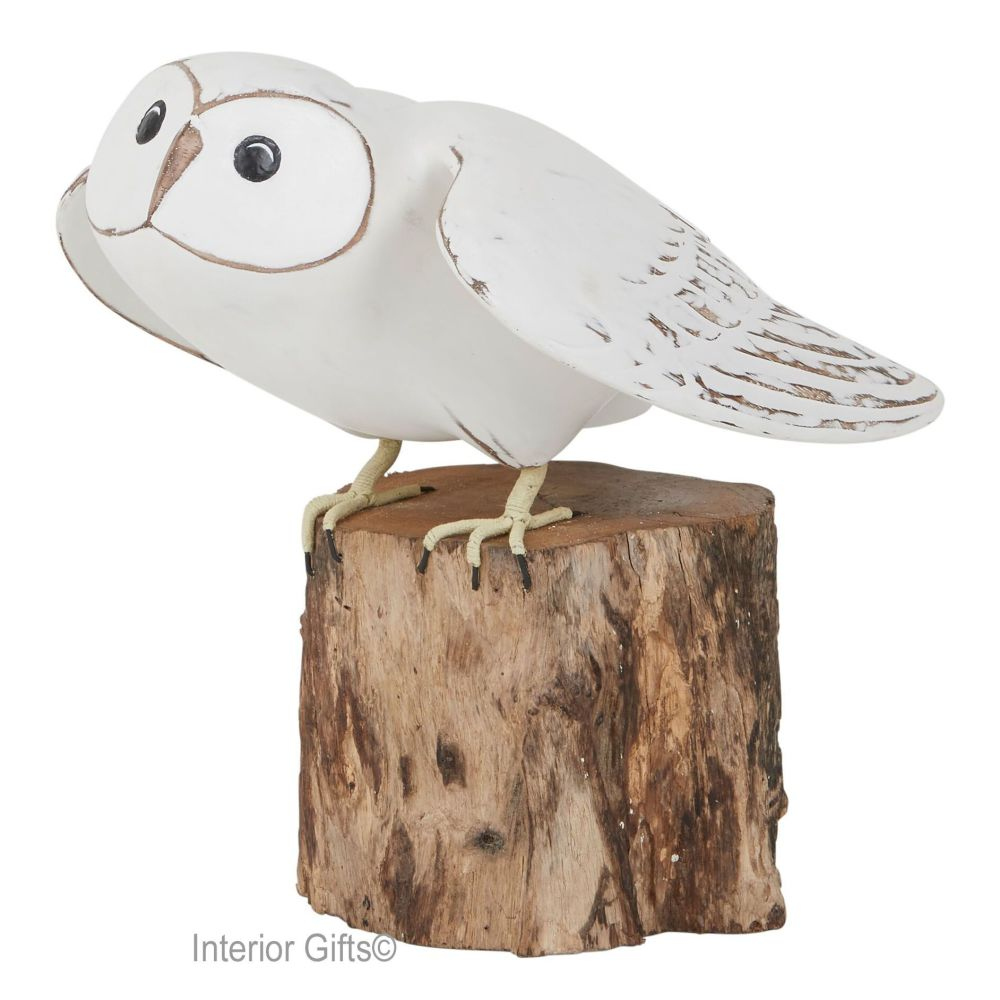 Archipelago Barn Owl Taking Off Bird Wood Carving