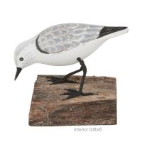 Archipelago Sanderling  Feeding  Wood Carving