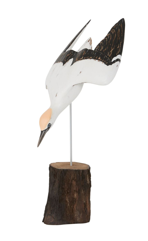 Archipelago Gannet Diving SMALL Bird Wood Carving *NEW*