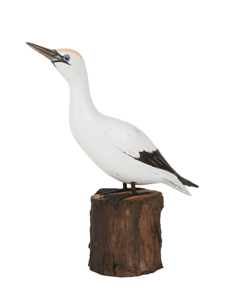 Archipelago Small Gannet Looking Up Bird Wood Carving *NEW*
