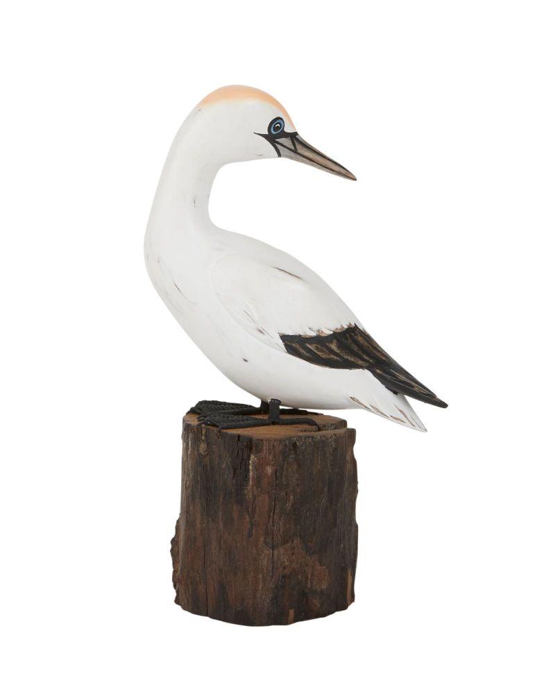 Archipelago Small Gannet Preening Bird Wood Carving *NEW*