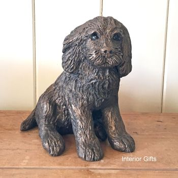RAFFLES SITTING Cocker Spaniel Frith Bronze Sculpture *NEW*
