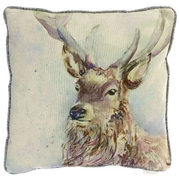 Voyage Wallace Stag Square Country Cushion - 50 x 50 cm