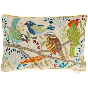 Voyage Larkin Embroidered Rectangular Cushion - 40 x 60cm