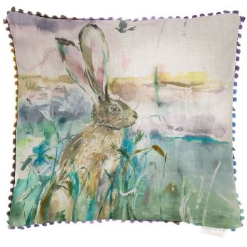 Voyage Morning Hare Square Country Cushion - 50 x 50 cm