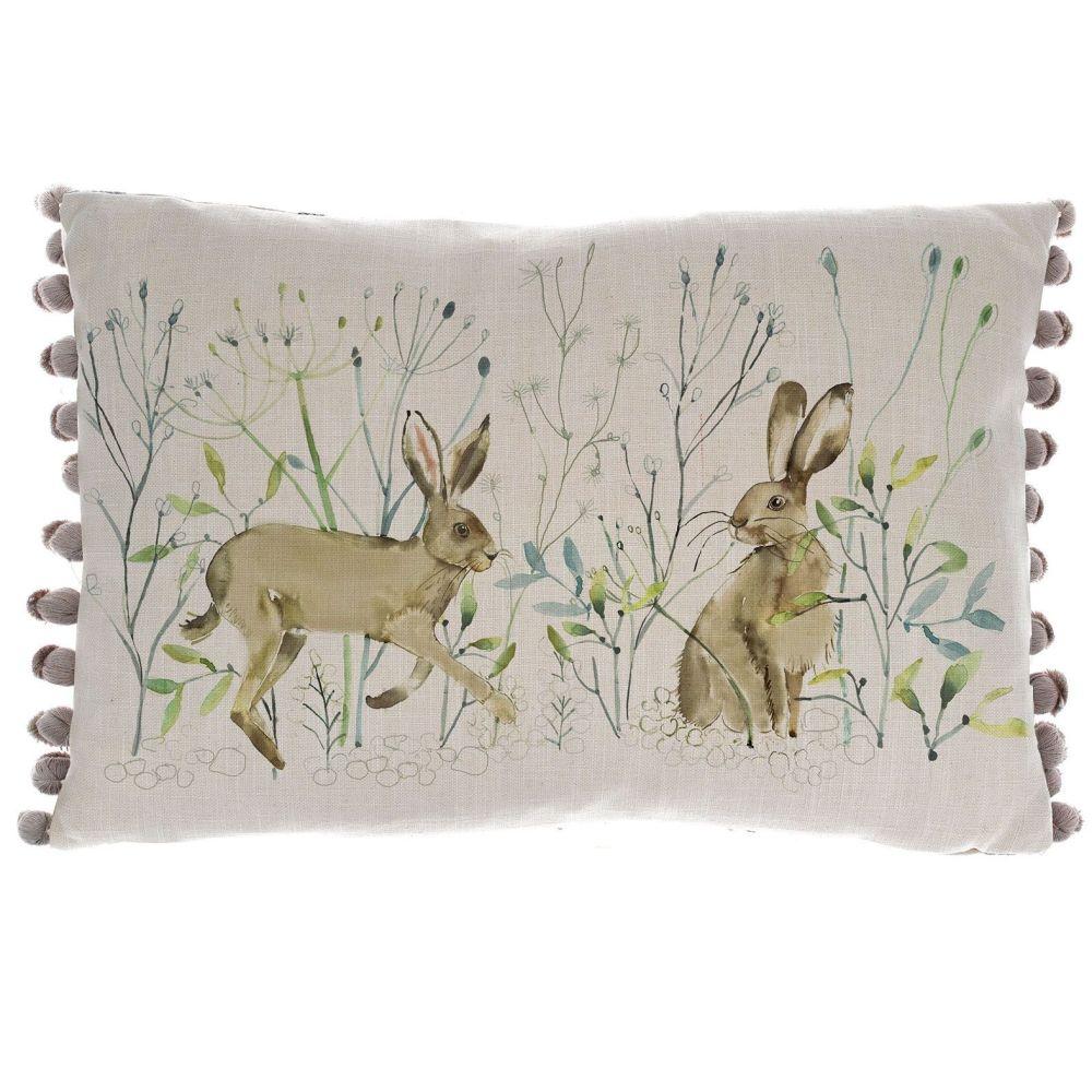 Voyage Braidlaw Hares Rectangular Country Cushion - 40 x 60cm