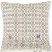 BRONTE by Moon Cushion - Natural Milan Check Merino Lambswool
