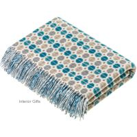 BRONTE by Moon Milan Eucalyptus Throw in Supersoft Merino Lambswool